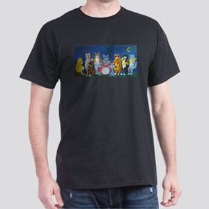 Salsa Cats at Night Dark T-Shirt