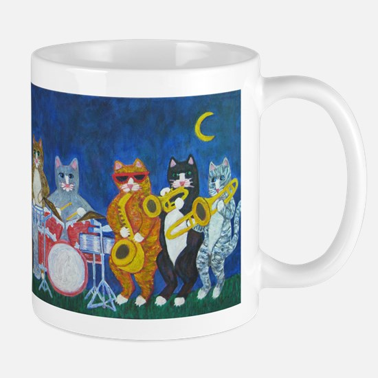 Salsa Cats at Night Mug