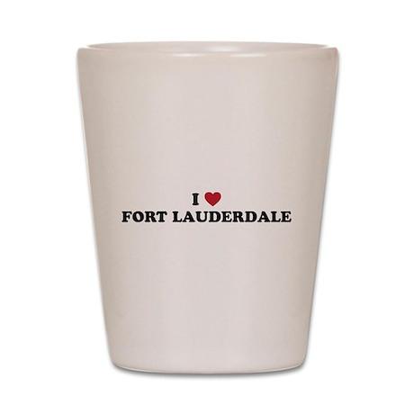 I Love Fort Lauderdale Shot Glass