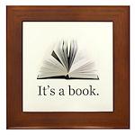 Its a book Framed Tile