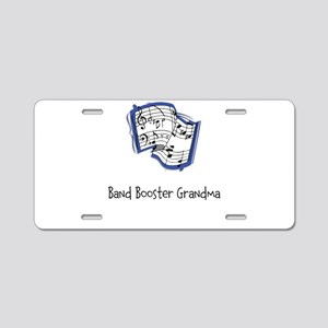 Band Booster Aluminum License Plate