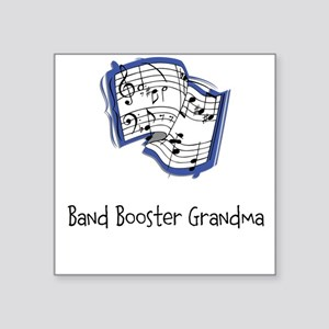 "Band Booster Square Sticker 3"" x 3"""