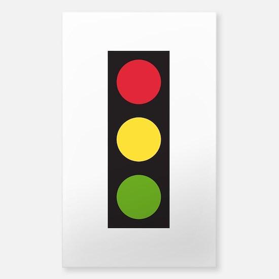 Traffic Light Sticker (Rectangle)