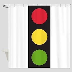 Traffic Light Shower Curtain
