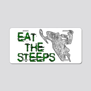 Eat The Steeps Aluminum License Plate