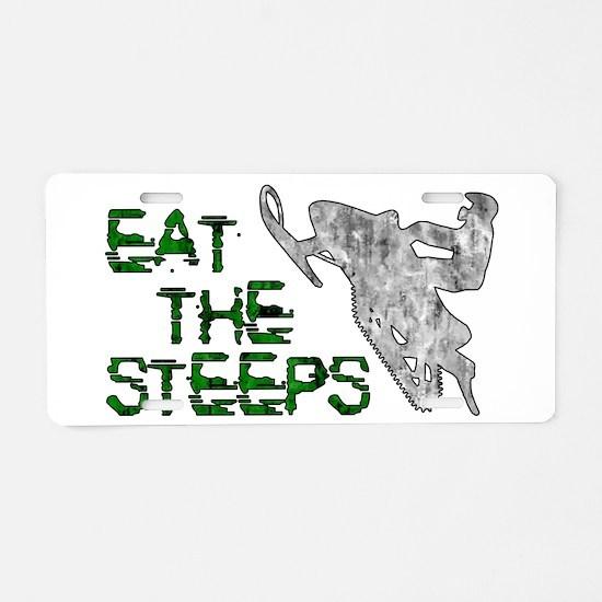 Eat The Steeps Aluminum License Plate