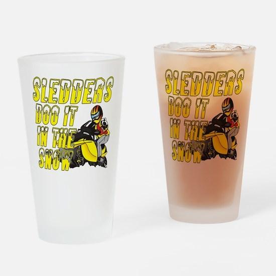 Sledders Doo Drinking Glass