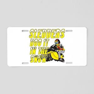 Sledders Doo Aluminum License Plate