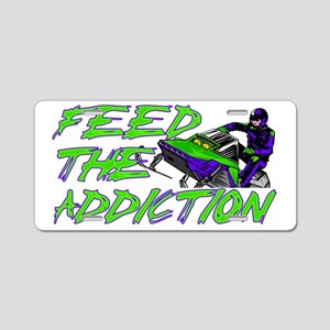 Feed The Addiction Aluminum License Plate