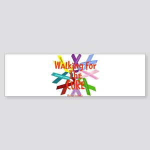 Walking for the CURE copy Sticker (Bumper)