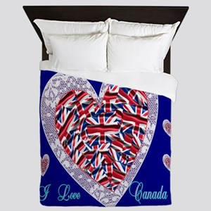 Victoria Day and I Love Canada Queen Duvet