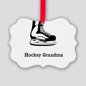 Hockey Grandma Picture Ornament