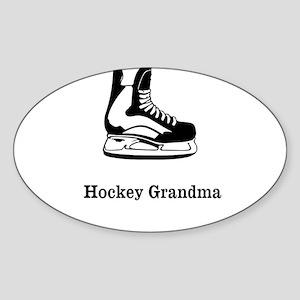 Hockey Grandma Sticker (Oval)