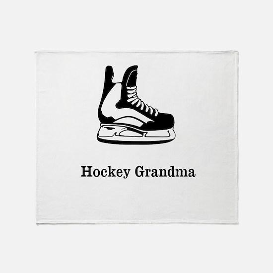 Hockey Grandma Throw Blanket