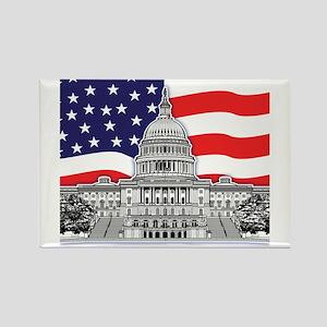 U.S. Capitol Building Rectangle Magnet