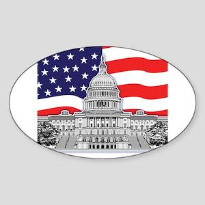 U.S. Capitol Building Sticker (Oval)