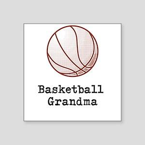"Basketball Grandma Square Sticker 3"" x 3"""
