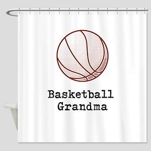 Basketball Grandma Shower Curtain