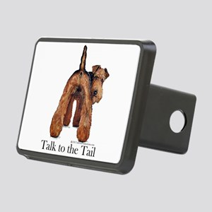 Airedale Terrier Talk Rectangular Hitch Cover