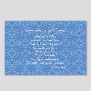 Guardian Angel Prayer Blue Postcards (Package of 8