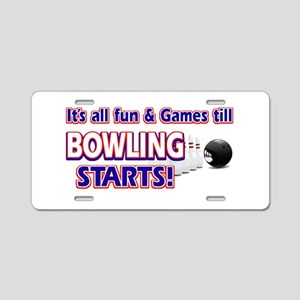 Cool Bowling Designs Aluminum License Plate