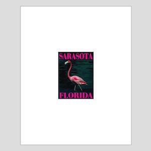 Sarasota Florida Pink Flaming Small Poster