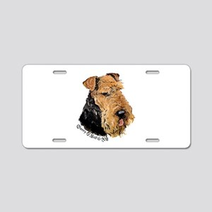 Airedale Terrier Good Dog Aluminum License Plate