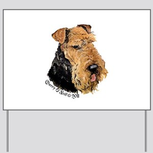 Airedale Terrier Good Dog Yard Sign