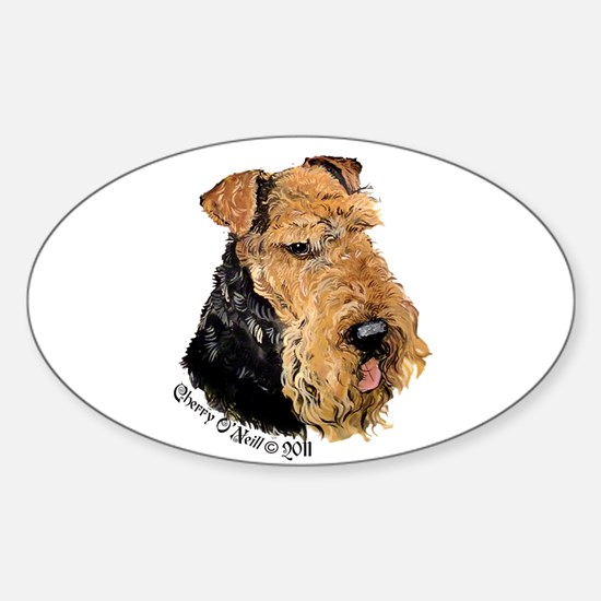 Airedale Terrier Good Dog Sticker (Oval)