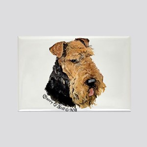 Airedale Terrier Good Dog Rectangle Magnet