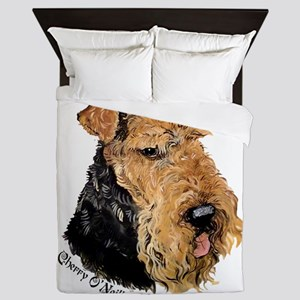 Airedale Terrier Good Dog Queen Duvet