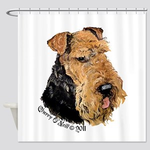 Airedale Terrier Good Dog Shower Curtain