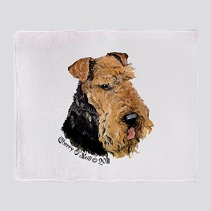 Airedale Terrier Good Dog Throw Blanket