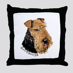 Airedale Terrier Good Dog Throw Pillow