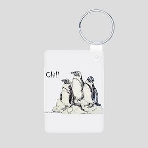 Chill Penguins Aluminum Photo Keychain