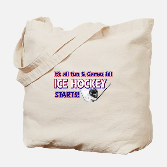 Cool Ice Hockey Designs Tote Bag