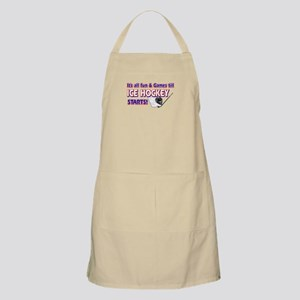 Cool Ice Hockey Designs Apron