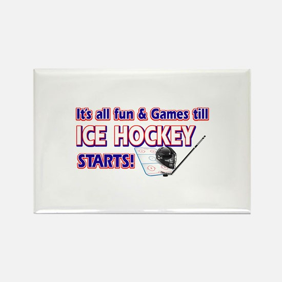 Cool Ice Hockey Designs Rectangle Magnet