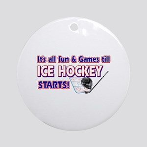 Cool Ice Hockey Designs Ornament (Round)