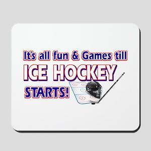 Cool Ice Hockey Designs Mousepad
