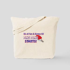 Cool Ping Pong Designs Tote Bag