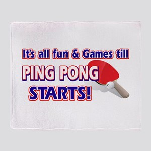 Cool Ping Pong Designs Throw Blanket