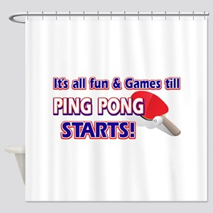 Cool Ping Pong Designs Shower Curtain