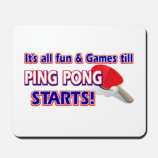 Cool Ping Pong Designs Mousepad