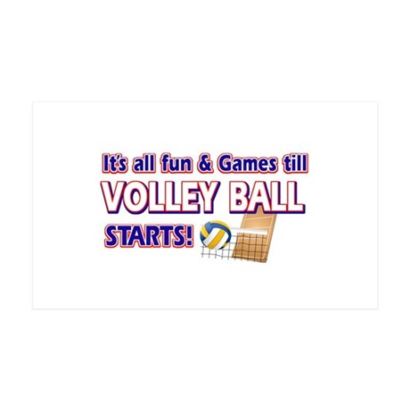 Cool Volleyball Designs 38.5 x 24.5 Wall Peel