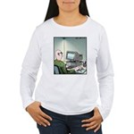 A real Mouse Computer Mouse Women's Long Sleeve T-