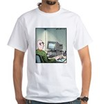 A real Mouse Computer Mouse White T-Shirt