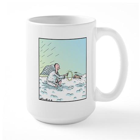 A Dog in Heaven Large Mug