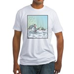 A Dog in Heaven Fitted T-Shirt