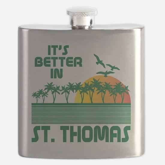 Funny St. thomas Flask